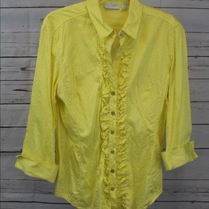 New York & Company Rouched Button Blouse - XL